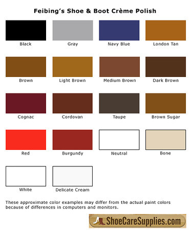 kiwi shoe polish colors chart